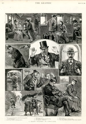« A Train Robbery in Colorado » (non signé), <br>The Graphic, 8 août 1891.