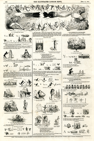 """Christmas Crackers"" (non signé), <br>supplément de Noël de l'Illustrated London News, <br>25 décembre 1847."