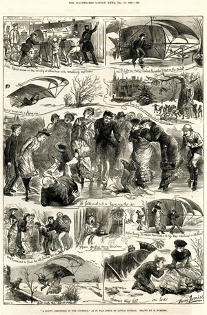« Happy Christmas », par Harry Furniss, <br>The Illustrated London News, <br>18 décembre 1880.