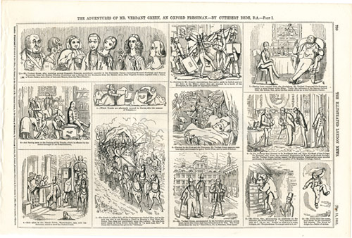 « The Adventures of Mr Verdant Green, an Oxford Freshman », <br>par Cuthbert Bede, <br>Illustrated London News, 13 décembre 1851.